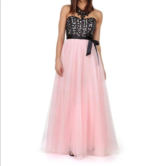 Windsor Black And Pink Embellished Prom Dress Poshmark